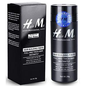 Poudre Cheveux,Poudre Densifiante Poudre Volume Cheveux Chatain Calvitie Homme Hair Building Fibers?Noir? (LILIOOY, neuf)