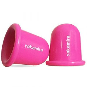 yokamira 2Pcs Ventouse Anti Cellulite, Masseur Anti Cellulite Roller Tasse Silicone Massage Coupes, Anti-âge, Soulage Efficacement la Douleur Dans Cou, Jambe, Ventre, Bras - Rose (Yokamira, neuf)