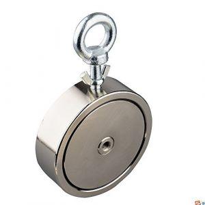 Mutuactor double côtés combiné 1200kg vertical magnétique en néodyme Force Pêche Aimant avec boulons à Âœil (Magnet-Collection, neuf)