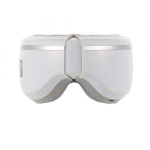 Masseur oculaire, Outil de soins oculaires 3D avec chargement de puissance USB, Compresseur d'air de vibration pliable et chauffant, musique apaisante, soulage la fatigue, favorise la protection du so (DuoBaiHuoDian, neuf)
