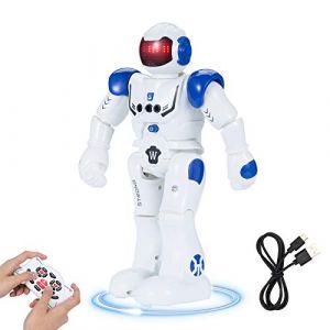 SUNNOW Intelligent Robot Programmable - Contrôle à Distance Jouets Robotique Détection des Gestes Commande Tactile Charge USB, Cadeau pour Les Enfants (Bleu) (EU KUNPENG, neuf)