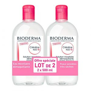 CRÉALINE H2O TS - lot de 2 x 500ml | Nettoie et purifie en douceur - Apaise | Peaux sensibles sèches à très sèches (Parapharmacie Moins Chère, neuf)