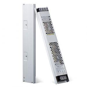 YAYZA! 1-Paquet Adaptateur Ultra-mince Compact Pour Pilote LED Basse Tension IP20 24V 12.5A 300W Universel Pour Alimentation Secteur à Découpage CA/CC (ClickBuy Group, neuf)