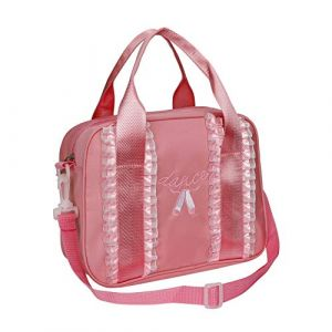 Sacs de Danse Fille Ballet, Sac à Main de Sport à Roulettes pour Enfants Teen Dancer, Adorable Petit Brodé Chausson de Ballet Cartable, Classique personnalisé pour Enfant Ballerines Corps Sac,Rose (MaoXinTek, neuf)