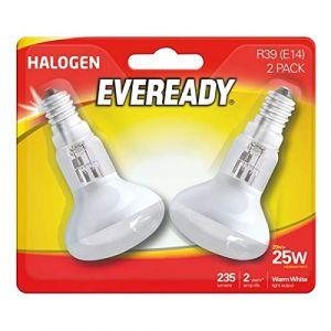 Eveready Eco Halogène Réflecteur R39Ampoule 20W (équivalent 25W) Cap, Lot de 2, E14, 25W (Oddsandends1, neuf)