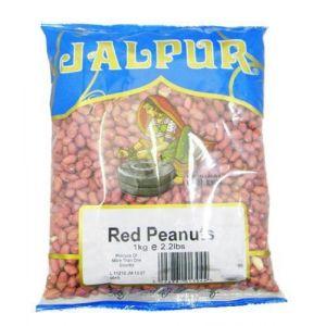 Cacahuètes décortiquées - avec la peau - 1 kg (Jalpur Millers Online, neuf)
