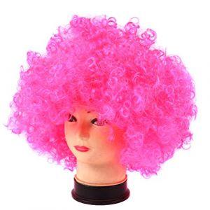 Crazywind Clown Disco Déguisement Filles Garçons Perruque Cheveux Bouclés Adulte Enfant Halloween Cosplay Fournitures (Crazywind, neuf)