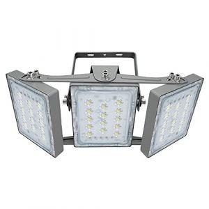 Projecteur LED 90W, IP65 Imperméable, 8100LM, Eclairage Extérieur LED, Equivalent à Ampoule Halogène 540W, 5000K Lumière Blanche du Jour, Projecteur réglable pour entrées, cour et garage (Panda Light, neuf)