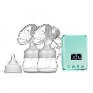 Améliorer Tire-lait électrique Double, Pompe d'allaitement Silencieux Sans BPA,Blue (SMS ShangHang, neuf)