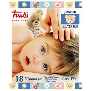 18 pièces de Trudi bébé Couches soins sec Fit junior (Pharmacie Mattina, neuf)