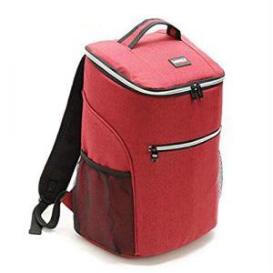 Marbeine Sac à Dos Isotherme 20L Glacière Sac de Repas Lunch Bag pour Travail Ecole Pique-Nique (Rouge) (saini shangmao, neuf)