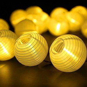 Guirlande Lumineuses Solaire LED Lanterne, ALED LIGHT 30 LEDs 6,5M/21,3Ft Étanche Extérieur Décorative Guirlande Lampion LED pour Fête, Noël, Jardin, Halloween (Blanc Chaud) (ALED LIGHT GROUP, neuf)