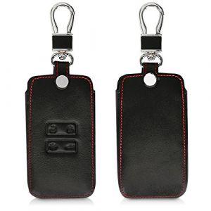 kwmobile Accessoire Clef de Voiture pour Renault - Coque de clé de Voiture en Simili Cuir pour Clef de Voiture Smart Key (Keyless Go Uniquement) Renault 4-Bouton - Noir (KW-Commerce, neuf)