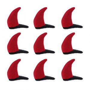 Lurrose 20pcs démon pince à cheveux rouge cornes de diable en peluche pince à cheveux pour la fête d'halloween (bethphia, neuf)