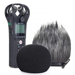 YOUSHARES Filtre en Mousse et Deadcat Pare-brise Adapté pour à Zoom H1n & H1 Enregistreur Portable, Bonnette Anti Vent pour ZOOM H1 (2 Packs) (Heartorigin Direct, neuf)