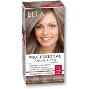 ELEA PROFESSIONAL CREME DE COLORATION PERMANENTE POUR CHEVEUX 7.1 moyen blond cendré AVEC COMPLEXE DE SOIN D'HUILES (My_Beauty_Box, neuf)