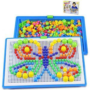 ITODA 592pcs Mosaique Creative Puzzle Jouet Bloc de magnétique Jouet Educatif Créatif DIY Jeu de Construction Colorée Cadeau de Noël Fête Anniversaire pour Enfants Filles Garçons Plus de 3ans (ITODAUK, neuf)
