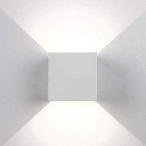Topmo-plus Appliques Murales LED Interieur Exterieur / 12W bridgelux COB / Réglable éclairage de mur Blanc / 4000K (Topmo-FR, neuf)