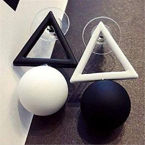 Boucle D'oreille Balancent Coréen Noir Blanc Triangle Carré Pentagramme Boucles D'oreilles Boule Simple Boucles D'oreilles Pour Les Femmes BijouxStyle 1 (Graceguoer, neuf)