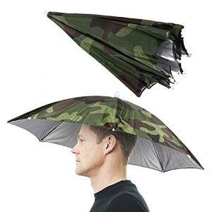 Parapluie de Pêche Protection Solaire Parasol Monté sur Tête 65 cm de Diamètre Chapeau de Camouflage Parapluie Voyage de Pêche en Plein Air Accessoires d'Aventure (Jingliang Good Life Store, neuf)