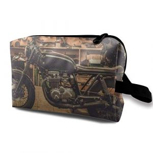 Trousse de maquillage de style vintage Café Racer moto multifonction sac de voyage sac de rangement (3E61Bco0e, neuf)