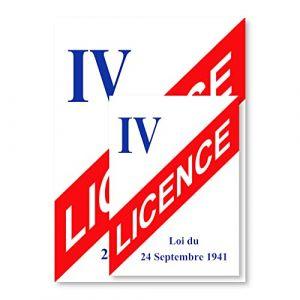 Panneau d'affichage Licence IV A5 - Plastique rigide PVC - Kit de fixation inclus - Protection Anti-UV - Fabriqué en France (Éditions Legimedia, neuf)