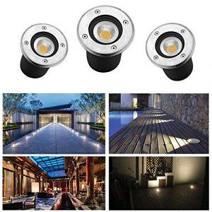 CPROSP 3 PACK Spot LED Encastrable IP65 230V AC85-265V 270Lumen Lampe d'éclairage de jardin extérieur blanc chaud 3000K pour Eclairage de Chemin D'accès pour Terrasse de Jardin Escalier Garage (CPROSP, neuf)