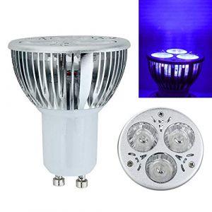 Violet ampoules 3W GU10/MR16UV Ultraviolet lumière violette ampoule LED Lampe 85-265V/12V (EBILUN EURO, neuf)