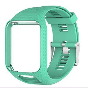 Voghtic Bracelet Adventurer Montre Remplacement pour Tomtom, Silicone Souple Bracelet Compatible avec Tomtom Runner 2/Runner 3/Spark 3/Golfer 2/Adventurer (SHENC, neuf)