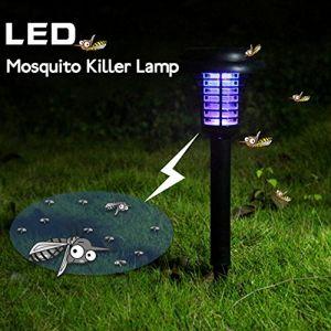 Lampe anti-insecte/anti-moustique, solaire, pour lÂ'extérieur - à suspendre ou à planter dans le solÂ–Éclairage de jardin (FUGUIhua11kai, neuf)