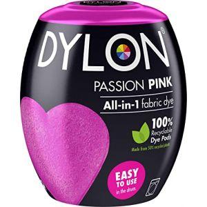 Dylon Teinture Textile pour Machine à Laver, Rose, 8.5 x 8.5 x 9.9 cm (The Quilted Bear Ltd, neuf)