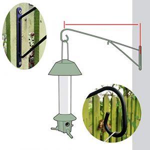 Roamwild Pestoff Grande mangeoire à Oiseaux Murale Post Support d'accrochage Crochet de Suspension-Mangeoire à Oiseaux Mural Version-40cm/45,7cm (Homgar, neuf)