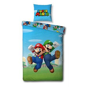Super Mario Nintendo - Parure de Lit - Housse de Couette Coton (LesAccessoires, neuf)