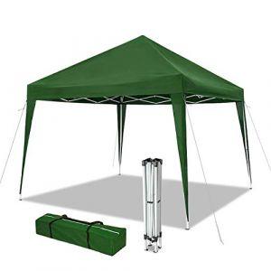 Nouvot Tonnelle de Jardin 3x3m Pliable | Tente Pliante de Jardin Rapide à Installer | Auvent Pliable pour Camping, Festival, Plage, Jardins | Inclus Sac de Transport (VOUNOT 24, neuf)