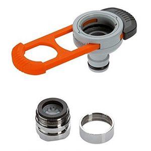 Adaptateur pour robinet d'intérieur de GARDENA: adaptateur pratique pour le raccordement du système GARDENA à un robinet avec filetage M 22 x 1 mâle et M 24 x 1 femelle (8187-20) (get goods, neuf)