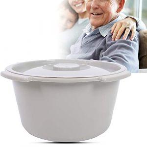 Chaise de toilette portable, seau de toilette seau de toilette épaissi seau de siège de toilette épaississant de toilette portable pour chaise de toilette âgée maternelle (runatyo, neuf)