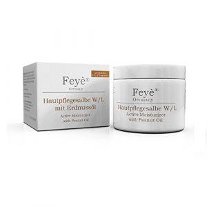 Feyè® Crème Hydratante, Pommade Nourrissante – pour le psoriasis, de l'eczéma et contre la peau sèche – avec de l'huile d'arachide (Feyè Cosmetics Germany, neuf)