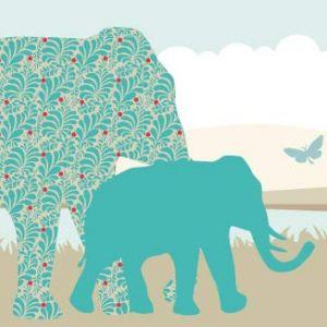 """anna wand design frise murale auto-adhésive, 450 x 11,5 cm, motif africain avec les animaux """"Sunny Safari"""" garçon/fille, pour chambre d'enfants (design your home, neuf)"""