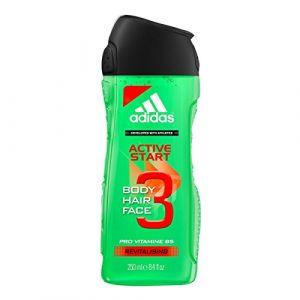 "6er Pack - Adidas Men Gel Douche""& Cheveux Active Start 3 en 1 – 250ml (IwonaTEC, neuf)"