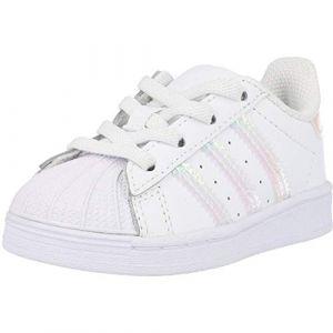 adidas Superstar El I, Basket Garçon Unisex Kinder, FTWR White FTWR White FTWR White, 27 EU (YKO Chaussures, neuf)