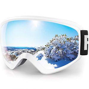 findway Masque de Ski Protection pour Enfant Lunette Ski Masque Ski OTG de Garçon ou Fille Anti-UV Antibuée Compatible avec Casque pour Ski Snowboard Autres Sports Hiver (Lentille Argent (VLT 21%)) (Findway Direct, neuf)