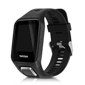 kwmobile Bracelet Compatible avec Tomtom Adventurer/Runner 3/Spark 3/Golfer 2 - Bracelet de Rechange en Silicone pour Fitness Tracker Noir (KW-Commerce, neuf)