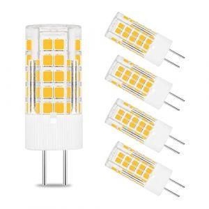 TZHILAN Lot De 5 Mini Ampoules LED GY6.35 4 W AC DC 12V 3000K JC À Deux Broches Équivalent 40W Blanc Chaud (TZLON-EU, neuf)