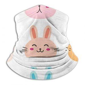 Bunny Cute Characters Set Face Sun Guard, cache-cou, couvre-chef, écharpe, cagoule, bandeau de pêche (Fendy-Shop, neuf)