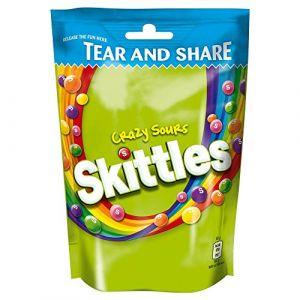 Skittles - Bonbons Crazy Sour - lot de 2 sachets de 174 g (Jalpur Millers Online, neuf)