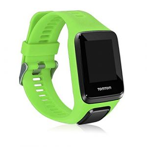 kwmobile Bracelet Compatible avec Tomtom Adventurer/Runner 3/Spark 3/Golfer 2 - Bracelet de Rechange en Silicone pour Fitness Tracker Vert Clair (KW-Commerce, neuf)