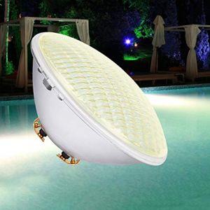 COOLWEST Éclairage de Piscine LED, Lumière sous-marine Blanc chaud 54W Éclairage Étang Étanche IP68, Projecteur de Piscine Éxtérieure AC/DC 12V Sous l'eau Pour Éclairage de Jardin de Piscine Aquarium (COOLWEST-FR, neuf)