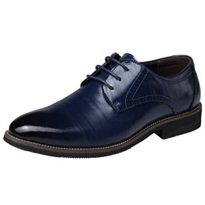 DADAWEN Homme Classique Commercial Leather Chaussure Bout Pointu-Bleu 41 (Shenzhen Ledawen Trading Co.,Ltd, neuf)