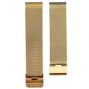 TOOGOO Bracelet de la montre en acier inoxydable a la mode Bracelet de la montre milanais 20 mm Sangle du montre Bracelet de remplacement de la montre (GNWE, neuf)