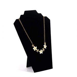 Support de bijoux présentoir 2pcs / Pack Noir Velours Support de tour de présentoir de bijoux de chevalet pour chambre à coucher pour collier de boucles d'oreilles (Couleur: Noir, Taille: 21 (Xianmin, neuf)